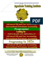 Advanced Oil Gas Accounting International Petroleum Accounting International Petroleum Operations MSc Postgraduate Diploma Intensive Full Time
