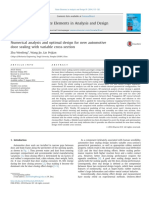Numerical Analysis and Optimal Design for New Automotive Door Sealing With Variable Cross-section