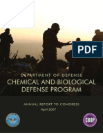 Chemical and Biological Defense Programme Report to Congress 2007