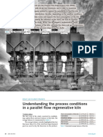 Understanding the Process Conditions in a Parallel Flow Regenerative Kiln