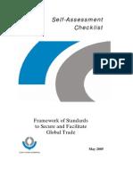 Wco Self Assessment Checklist for Framework (Publication)