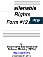Unalienable Rights Course, Form #12.038