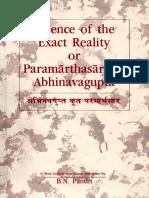 Abhinavagupta, B. N.Pandit-Essence of the Exact Reality or Paramarthasara.pdf