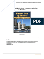 Windows Azure SQL Database Programming Design Pa Book