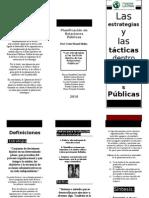 Brochure Estrategias y Tácticas