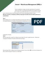 Automatic Replenishment _ Warehouse Management (WM) in SAP