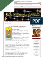 14 - La Temperancia - Tarot Egipcio - - Las Revelaciones Del Tarot
