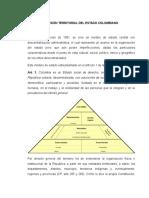 División Territorial Del Estado Colombiano