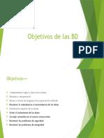 Objetivos de Las BD