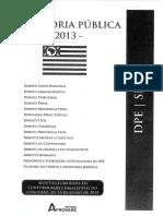 Defensoria Pública Estadual - Dpe . Sp - 2013