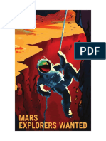 Mars Explorers Wanted NASA Poster