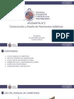 Construcción y Diseño de Pav. Asfálticos
