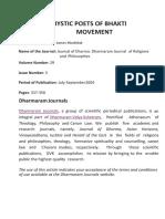 Mystic Poets of Bhakti Movement.pdf