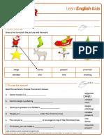 Worksheets Christmas 1