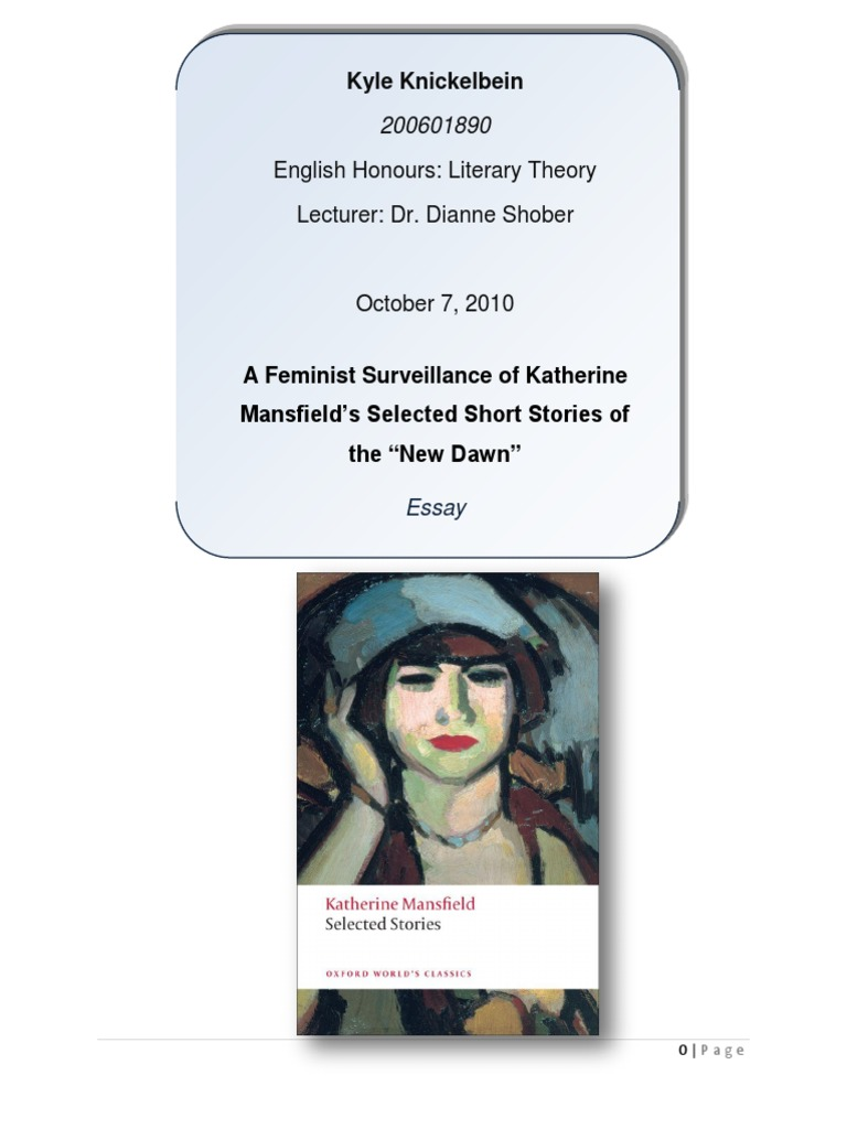 katherine mansfield s bliss and feminism This essay will focus on attitudes towards gender and sexuality in some of katherine mansfield's short french feminist katherine collected.
