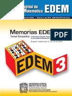 Memorias Tercer Encuentro Distrital de Educación Matemática