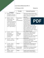 Jurnal Harian Mahasiswa KPL II