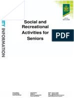 Social and Recreational Activities for Older p 1