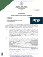 Discenza v. Lacey BOE Interim Order