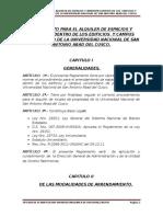 Reglamento de Alquileres de Locales 2012