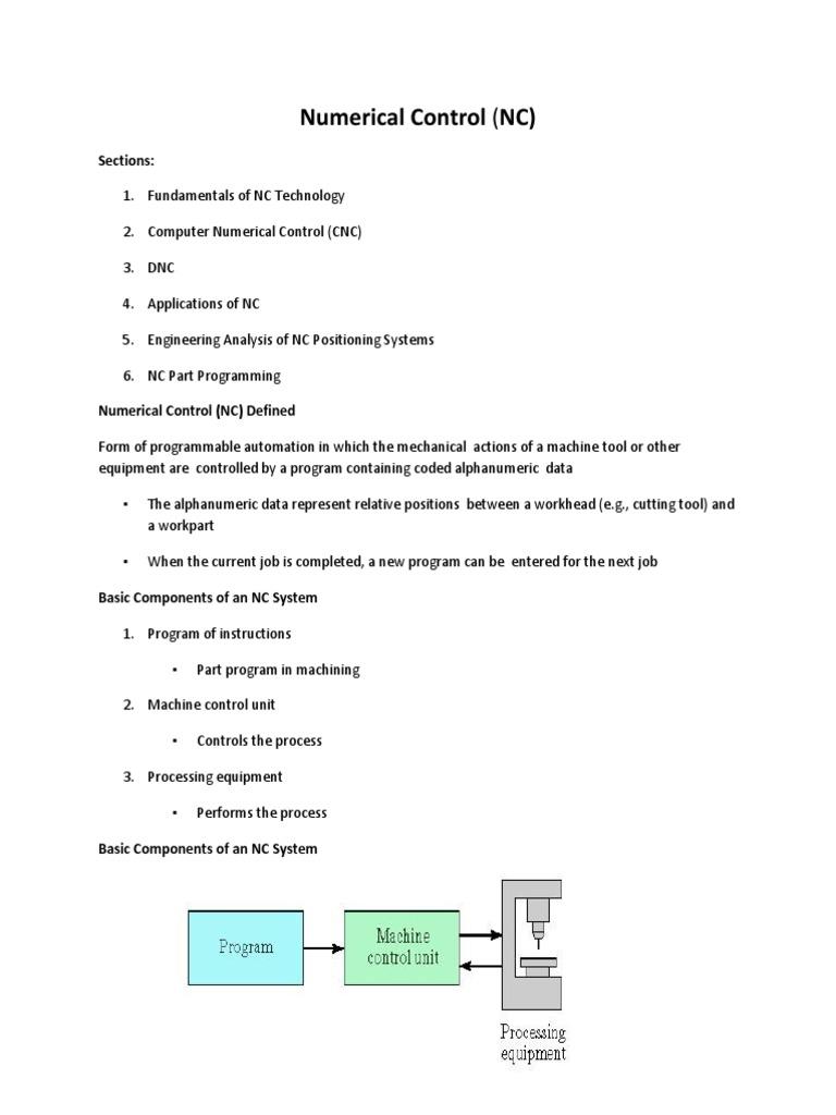 Numerical Control PDF | Numerical Control | Computer Programming