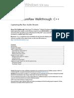 AudioCaptureRaw Walkthrough