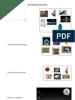 screenshots of smartboard activities