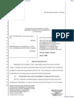 City of Seattle v. Professional Basketball Club LLC - Document No. 60