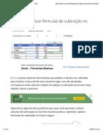 Aprenda a aplicar fórmulas de subtração no Excel