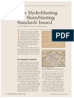 New Hydroblasting and Slurryblasting Standards Issued