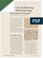 New Hydroblasting and Slurryblasting Standards Issued
