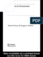 Andre Green Love and Its Vicissitudes