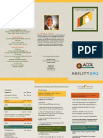African American Conference on Disabilities Brochure