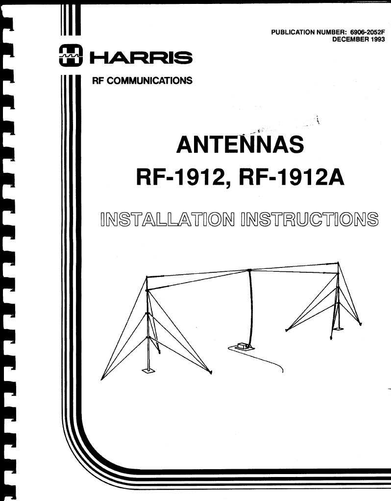 Harris RF-1912 Antenna Installation Instructions