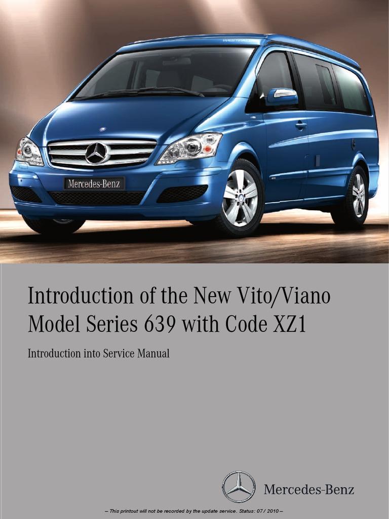 Model Series 639 With Code XZ1 2010-09-002_001_en | Manual Transmission |  Transmission (Mechanics)