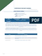 Perfil Competencia Mecanico General