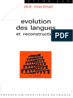 Martinet - Évolution des langues et reconstruction (1975)