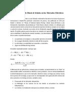 Resumen Modelo de Black & Scholes en El Mercado Eléctrico