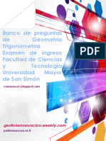 Banco Geometria Trigonometria FCYT UMSS