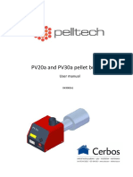 Pelltech Pellet Burner PV20a PV30a User Manual