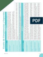 Cuadro de Competencias y Capacidades 4 Años - 2016