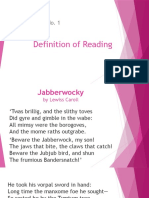 1 Reading With Jabberwok