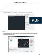 How to Create a Custom Dimension Style-Autocad