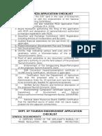 Peza&Dot Checklist