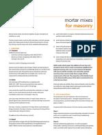 Mortar Mixes for Masonry 2013