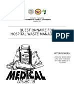 Hospital Waste Management (Questionnaire)