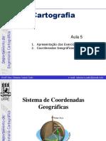 Cartografia - Coordenadas Geográficas