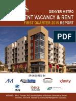 Denver Metro Apartment Vacancy & Rent, 2015, 1st Quarter, Colorado Division of Housing
