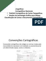 Cartografia - Convenções Cartográficas