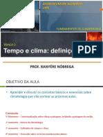 Climatologia - Tempo e clima